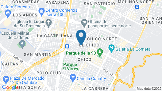 NH Bogotá Urban 93 Royal Map