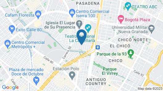 Apartamento Amoblado El Dorado Map