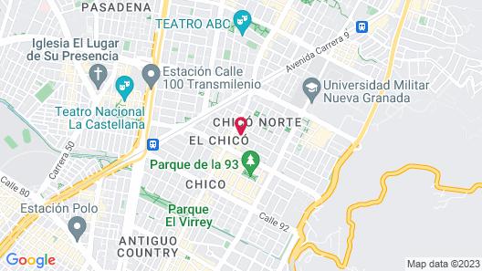 Hotel Exe Bacata 95 Map