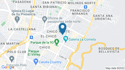 DoubleTree by Hilton Hotel Bogotá - Parque 93 Map
