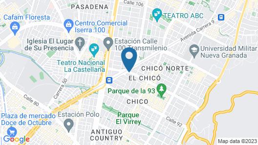Casa Dann Carlton Hotel & Spa Map