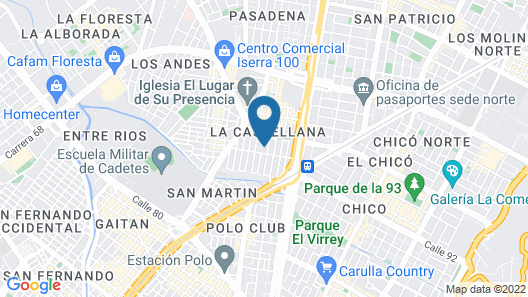 Ayenda 1079 Bogotá Alpes Polo Club Map