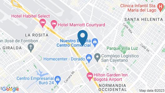 Aloft Bogota Airport Map