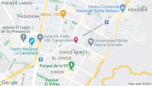 Bogotá 100 Design Hotel Map