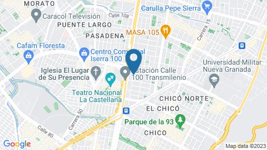 Mercure Bogotá Calle 100 Map