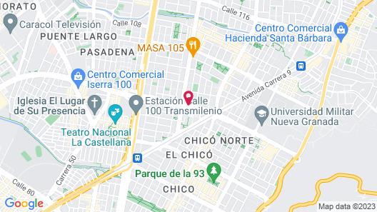 Clarion Hotel Bogota Plaza Map
