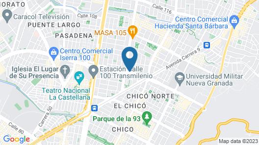 Bogota Plaza Hotel  Map