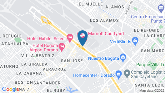 Courtyard by Marriott Bogota Airport Map