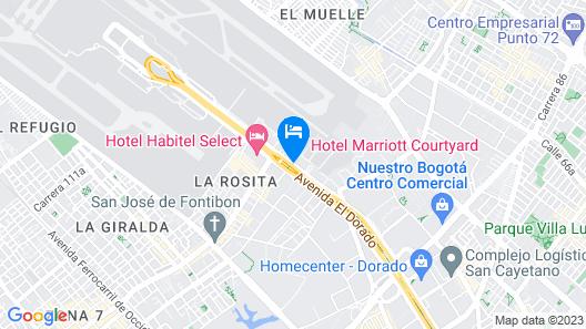 Courtyard by Marriott Bogota Airport Map