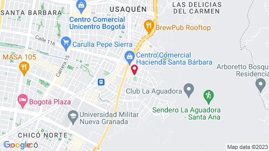 NH Collection Bogotá Hacienda Royal Map