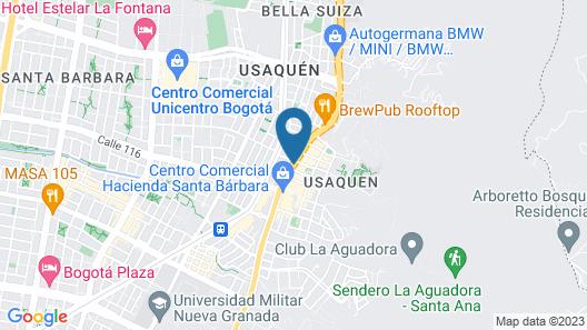 Hampton by Hilton Bogotá - Usaquén Map
