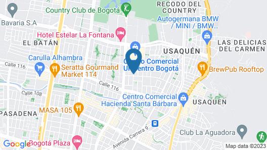 Hotel Egina Bogota Map