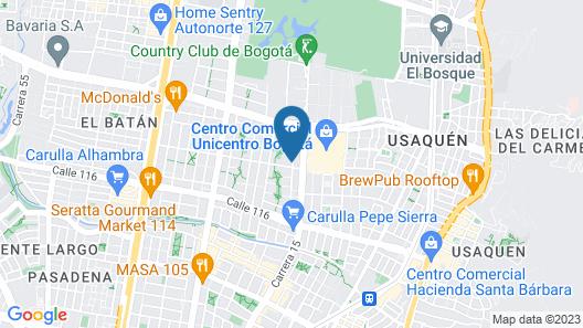122 Plaza Apartahotel Map