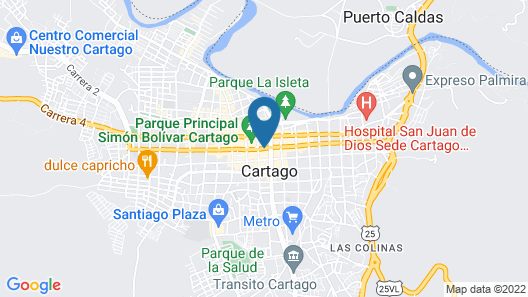Hotel Cartago Plaza Map