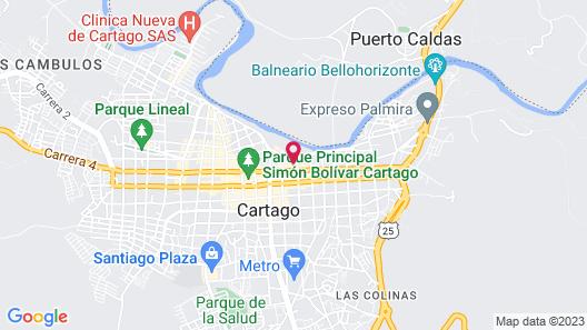 Casa Turistica Guadalupe Map