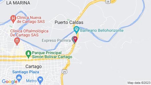 Hotel Portal del Valle Map