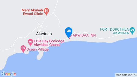 Akwidaa Inn Map