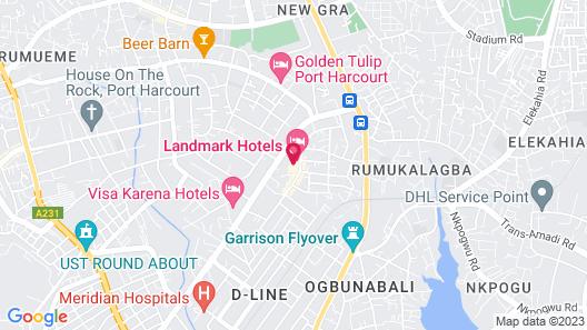 Landmark Hotel Map