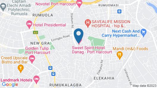 Swiss Spirit Hotel & Suites - Danag, Port Harcourt Map