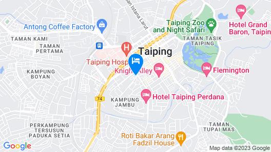 Legend Inn Taiping Map