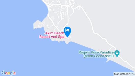 Axim Beach Resort Map