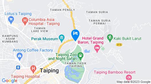 Hotel Seri Malaysia Taiping Map