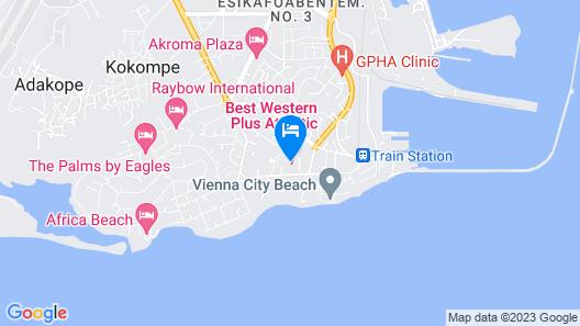 Best Western Plus Atlantic Hotel Map