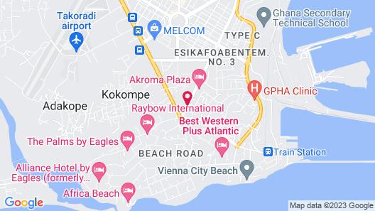 Takoradi Standard Hotel Map