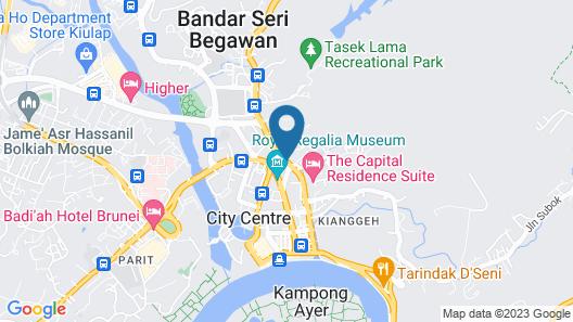 Radisson Hotel Brunei Darussalam Map