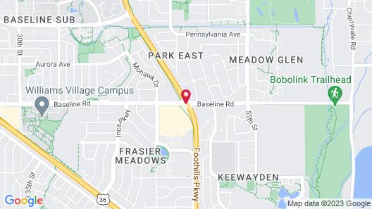 Homewood Suites Boulder Map