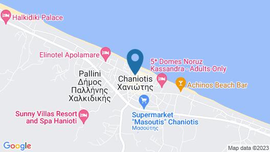 Villas Hanioti Map