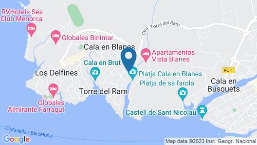 Globales Cala'n Blanes Map