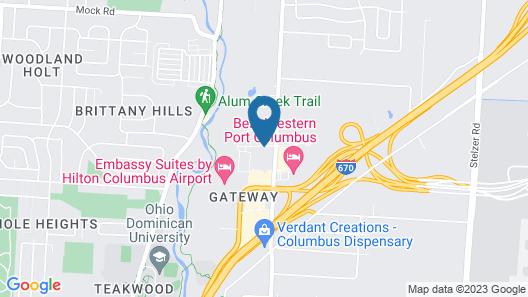 Comfort Suites Columbus Airport Map