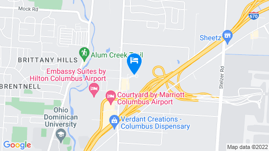Four Points by Sheraton Columbus Ohio Airport Map