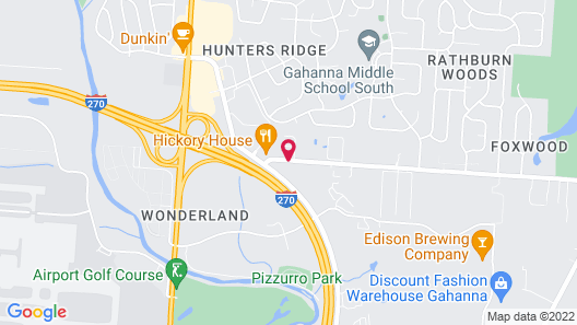 Springhill Suites by Marriott Columbus Airport Gahanna Map
