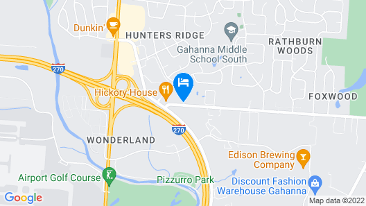 Candlewood Suites Columbus Airport Map