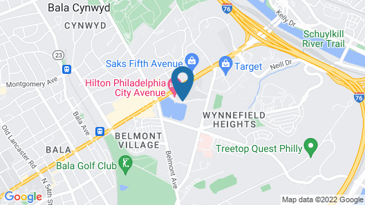Homewood Suites by Hilton Philadelphia - City Avenue Map