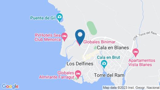 Hotel Globales Binimar Map