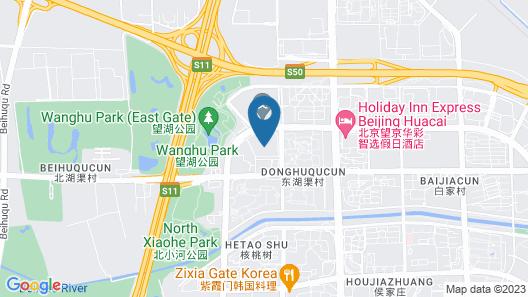 Holiday Inn Express Beijing Huacai Map
