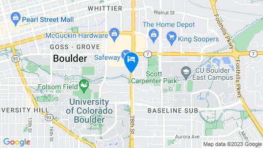 Millennium Harvest House Boulder Map