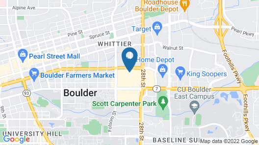 Residence Inn by Marriott Boulder Canyon Boulevard Map
