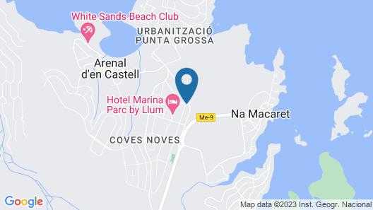 Azuline Hotel-Apartamento Marina Parc Map