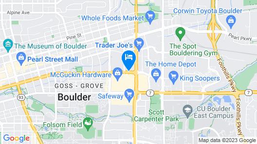 Hilton Garden Inn Boulder Map