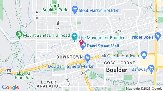 Hotel Boulderado Map