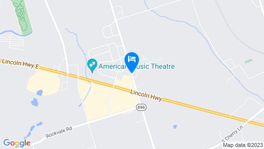 Days Inn by Wyndham Lancaster PA Dutch Country Map