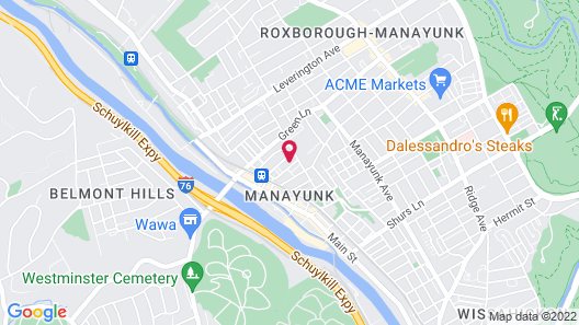 Manayunk Chambers Guest House Map