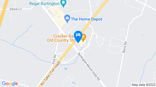 Comfort Inn & Suites Mt. Holly - Westampton Map