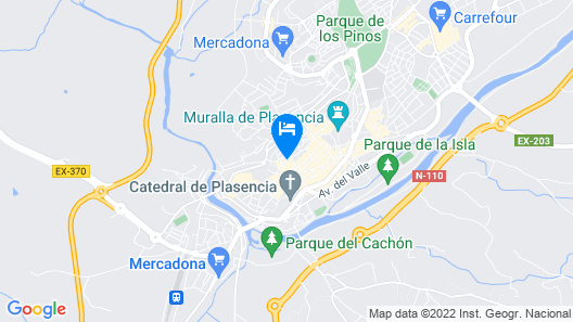 Hotel Rincón Extremeño Map