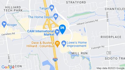 Best Western Hilliard Inn & Suites Map