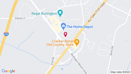 Holiday Inn Express Hotel & Suites Mt. Holly Map
